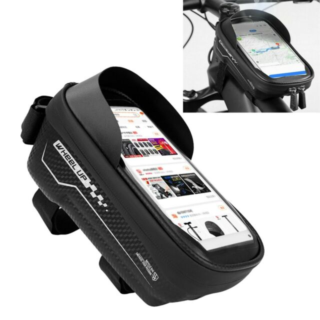 Bicycle Bike Front Frame Tube Bag Accessories for Mobile Phone Pannier Pouch AU