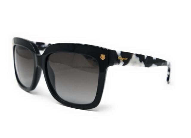 7ac927958d Salvatore Ferragamo Sunglasses Sf676s 001 Black 55mm for sale online ...