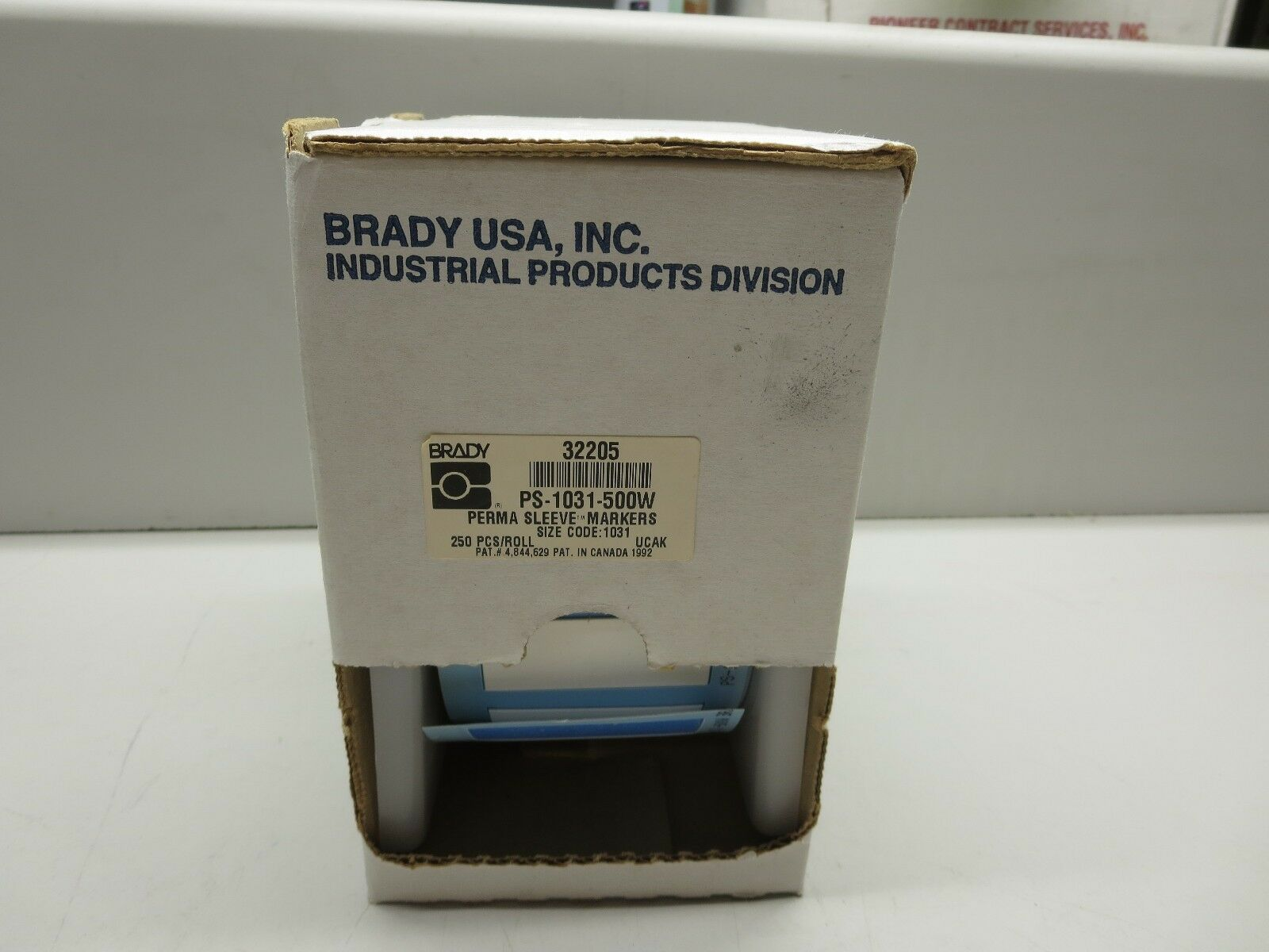 Brady, 32205 (PS-1031-500W), Perma Sleeve Markers, Size  1031, Partial Roll