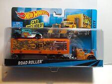 Hot Wheels Road Roller Orange Semi w/Exlusive Blue Bone Shaker
