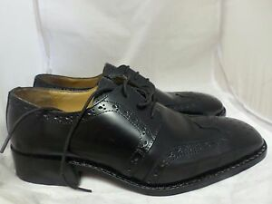 DERBY Style Hand Crafted Leather Soles Mens Black Brogues UK 9 EU 43 LG05 02 www