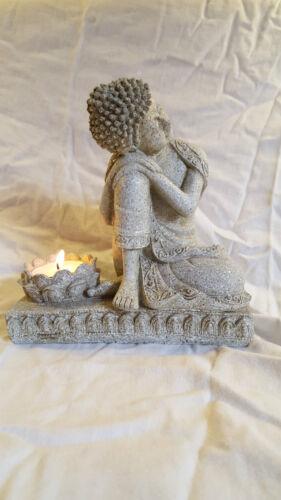 BUDDHA//MEDITATION//BUDDHIST TEA LIGHT CANDLE HOLDER//HOME DECORATIVE