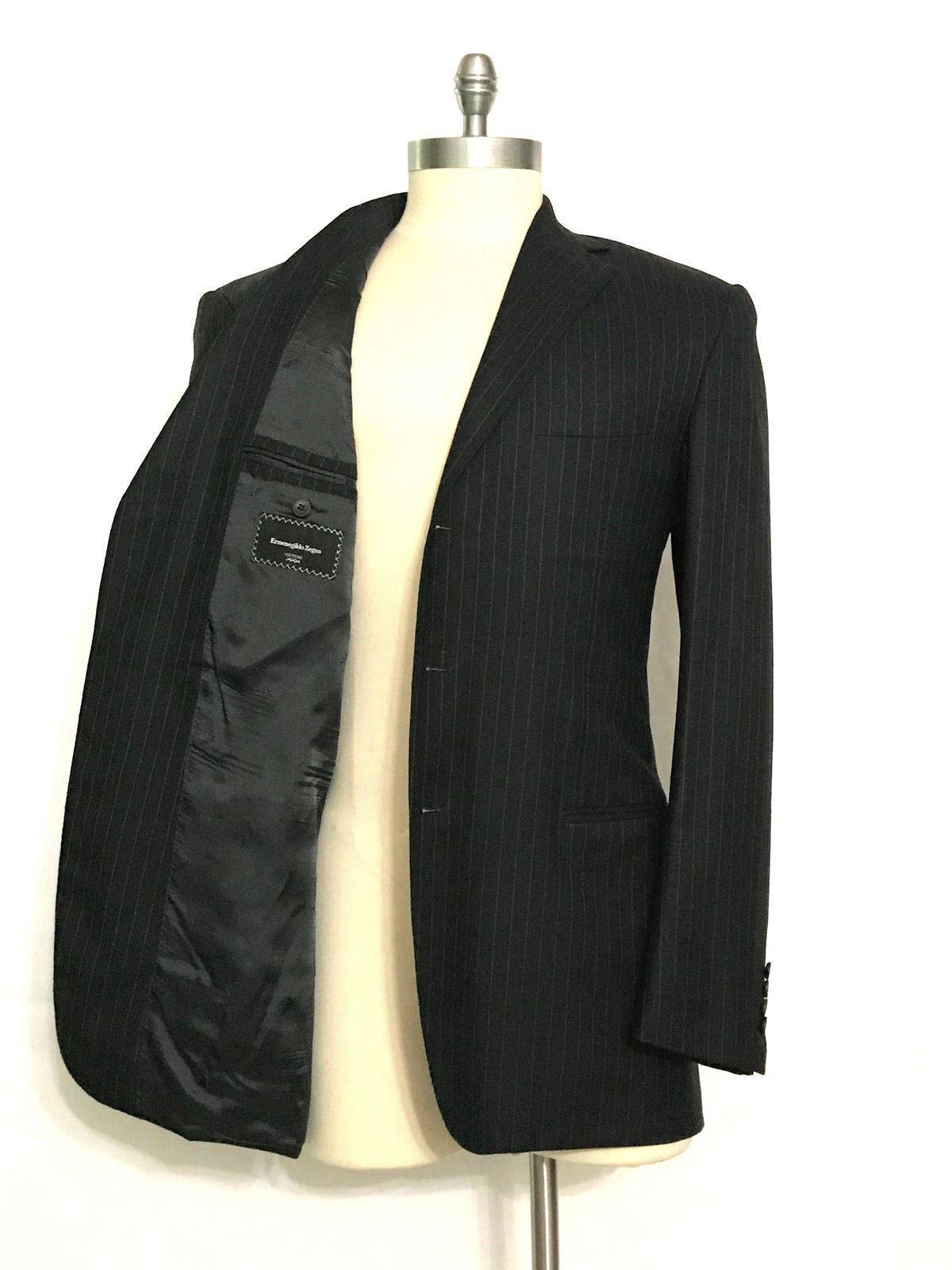 5k ERMENEGILDO ZEGNA Couture Suit-42XL-44XL-15milmil15-SUPER170s-PINSTRIPE-LONG