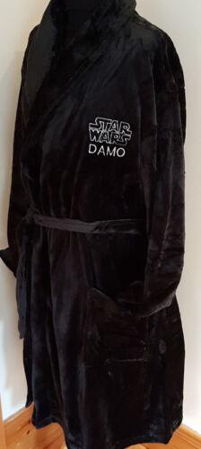 Star Wars Personalised Dressing Gown Gents Fleece Robe Black Valentines Gift