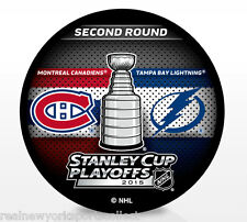 2015 MONTREAL CANADIENS VS TAMPA BAY LIGHTNING STANLEY CUP PLAYOFFS DUELING PUCK
