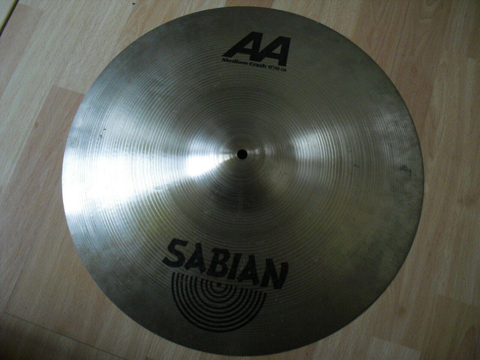 19  Sabian AA Medium Crash Cymbal 1900g traditional finish