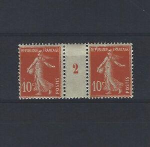 France-Yvert-n-138-Paire-millesime-2-neuf-avec-charniere