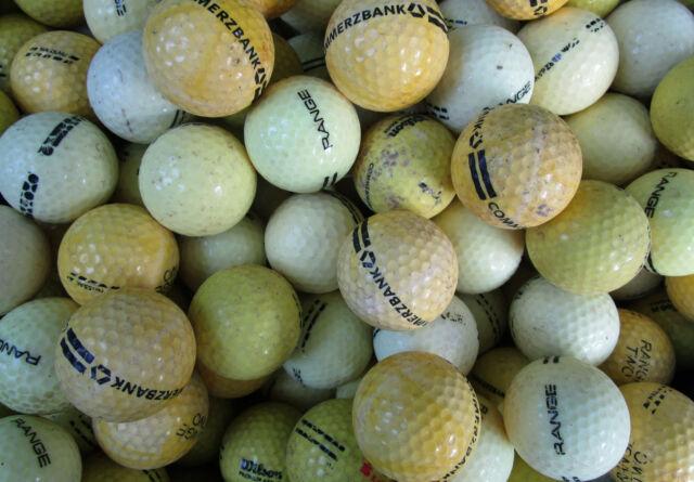 100 gelbe  Rangebälle Golfbälle  für Crossgolf und zum üben
