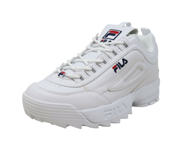 Fila Women Youths BOYS GIRLS Shoes Disruptor II Synthetic Leather White