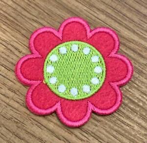 Blume Bügelbild Aufnäher Applikation Patch Nähen Basteln Verzieren