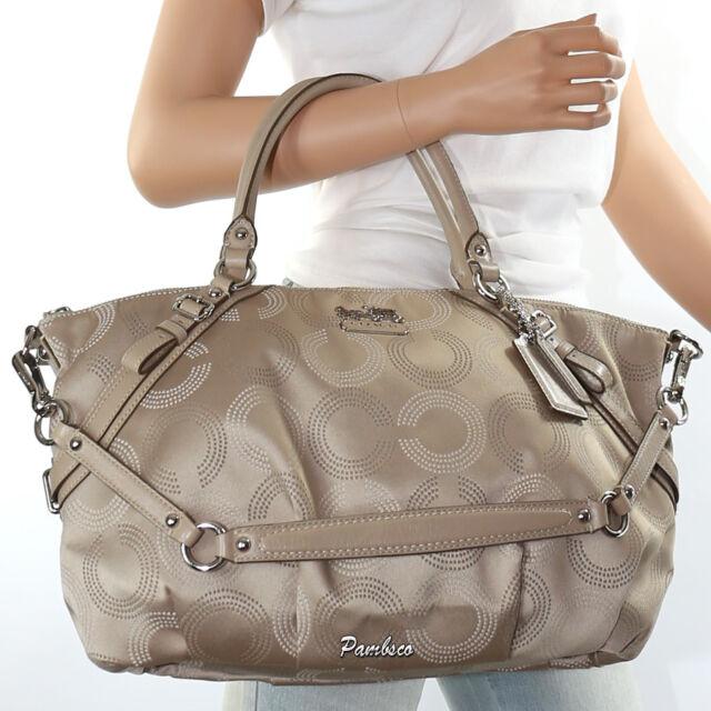 New Coach Madison Sophia Op Art Dotted Shoulder Bag Hand 15957 Rare