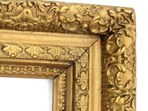 ANTIQUE 19 C  GILDED FRAME FOR PAINTING  20 x 16 INCH  one of two (f-13)