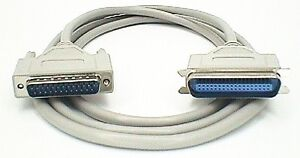 PC-Parallel-Printer-Cable-Lead-25-pin-DB25-Male-to-36-way-Centronics-Male-9M