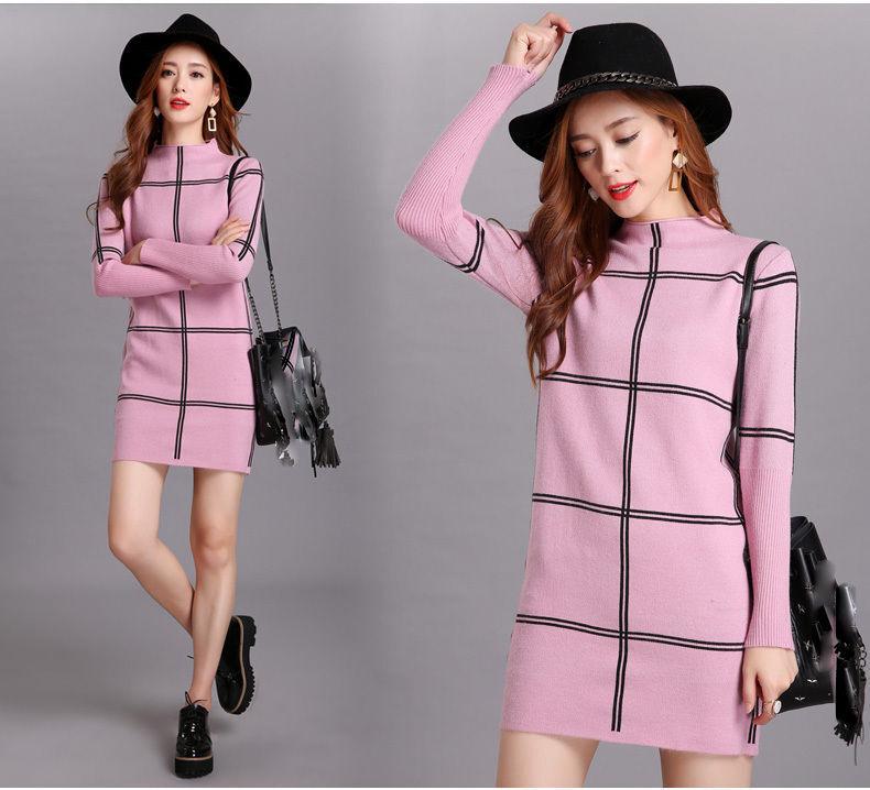 Korean Women's Fashion Cashmere Spring Knitting Sweater SLim Fit Party Dress sz