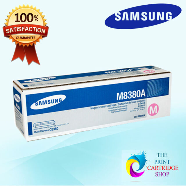 New & Original Samsung CLX-M8380A Magenta Toner Cartridge CLX8380 15K Pages