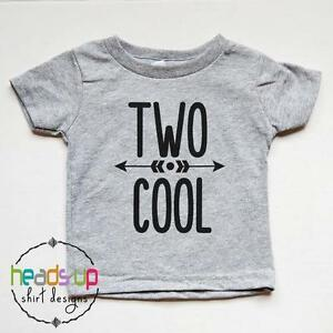 Image Is Loading Two Cool Birthday Shirt 2nd Tshirt Toddler Boy