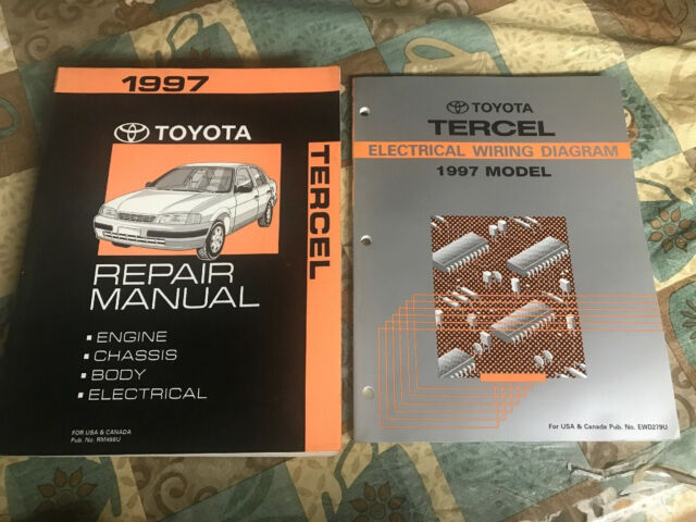 Toyota Tercel Electrical Wiring Diagram 1997 Model Repair Manual Dealeship Shop