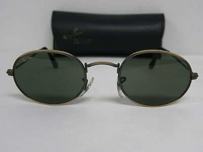 Vintage B&L Ray Ban Classic Collection 1 Antique Bronze W0969 Oval USA Pewter