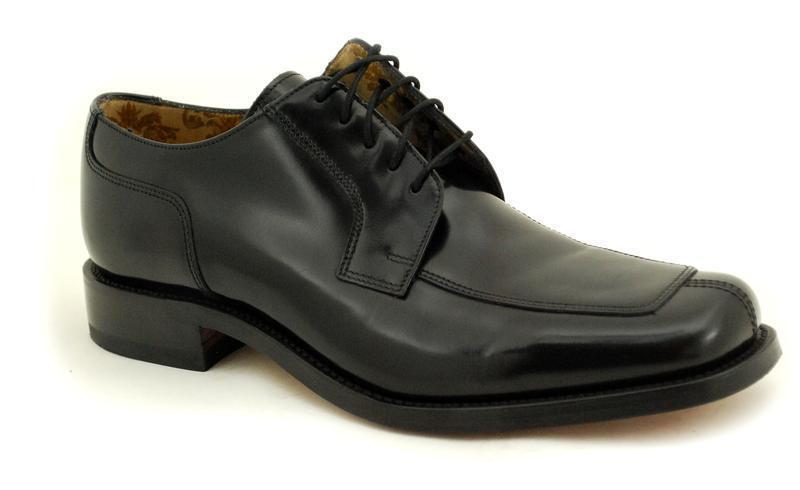 Loake Rahmengenähte Premium Herrenschuh 5 Eye schwarz Polished Schuhe 1303B