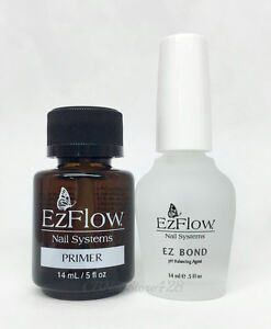Ezflow-Nail-System-Primer-Ez-Bond-dehydrator-5oz-14ml-DUO