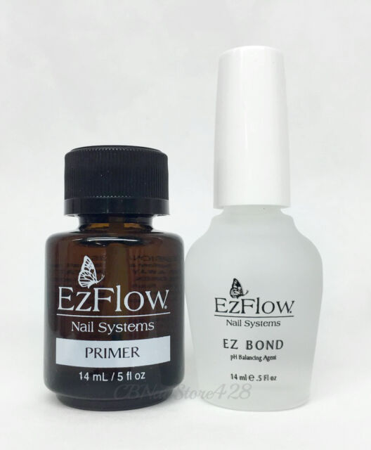 Ezflow Nail System - Primer + Ez Bond (dehydrator) .5oz/14ml DUO