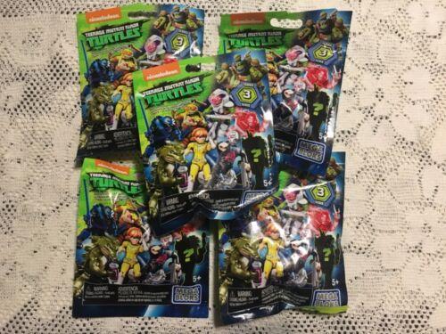 Mega Bloks Teenage Mutant Ninja Turtles Blind Bags Series 3 Lot Of 5 Minis NEW