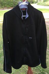 Nautica-Mens-Jacket-XXL-Black-Microfiber-Light-Weight-Zip-Car-Jacket-Casual