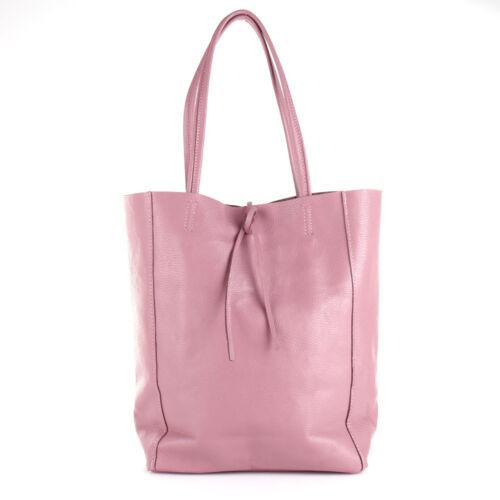 8740b6d551bcc Freizeit Neu Tasche A4 Shopper Rosa Leder Italy Uni Schulter Borse Pelle  Schule kXZPiuO