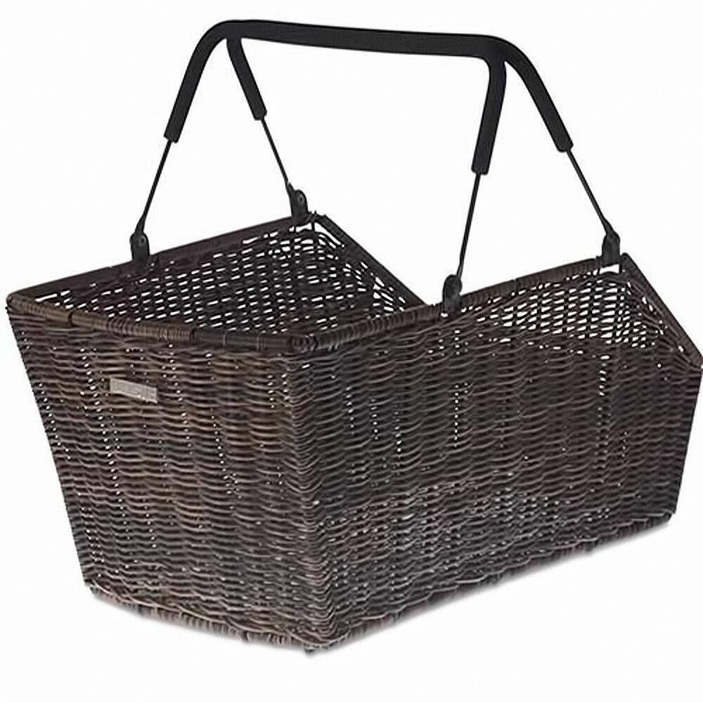 Basil bolsillos cesta mimbre de cento look Multi System nature marrón cesta de bicicleta