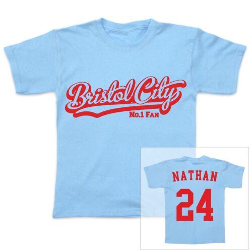 enfant t-shirt BRISTOL CITY FOOTBALL personnalisé bébé