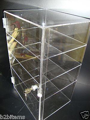 "Acrylic Countertop Display 12 x 7"" x 19"" Locking Security Showcase CUPCAKE Stand"