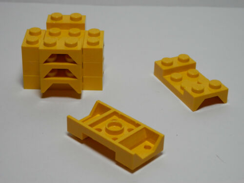 Set of  8  Vehicle Mudguards 2 x 4 with Arch Studded  Yellow LEGO LEGOS