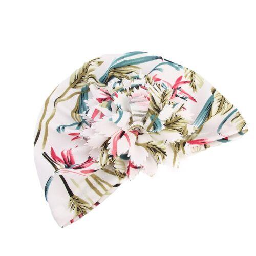 New Muslim Women Flower Turban Hat Twist Knot Bandana India Cap Beanie Headwrap