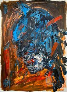 Original-Abstract-18x24-034-Bloody-Batman-Bust-Palette-Knife-Portrait-Painting-Art