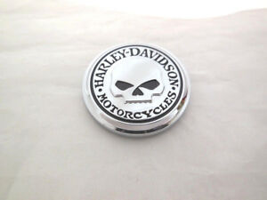 Harley-Davidson-Skull-Emblem-Medallion-Sissy-Bar-Windschild-Koffer-14100749MP