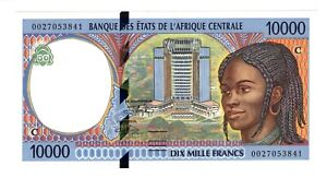 Central African States Republic of Congo 2000 10000 Francs UNC Banknote 105Cf