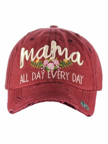 Ceci® Womens Baseball Cap /'Mama/' Distressed Vintage Embroidered Dad Hat