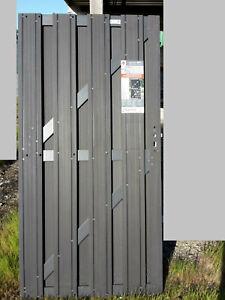 Gut gemocht Alu WPC Tür Tor 180 x 90 cm Pforte Zaun gartentür Gartenzaun Braun JH74