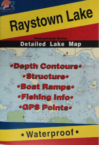 Details about Raystown Lake Detailed Fishing Map, GPS Points, Waterproof,  Depth Contours #L399