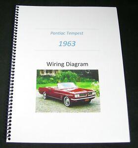 1963 Pontiac Tempest Electrical Wiring Schematic Diagram ...