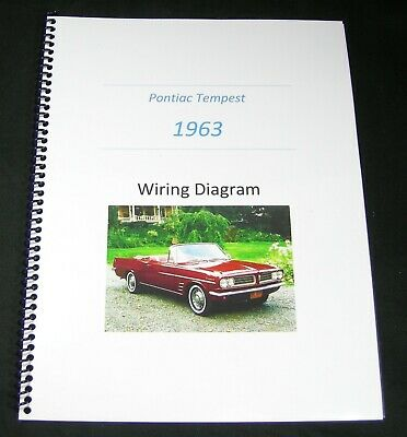 1963 Pontiac Tempest Electrical Wiring Schematic Diagram ...