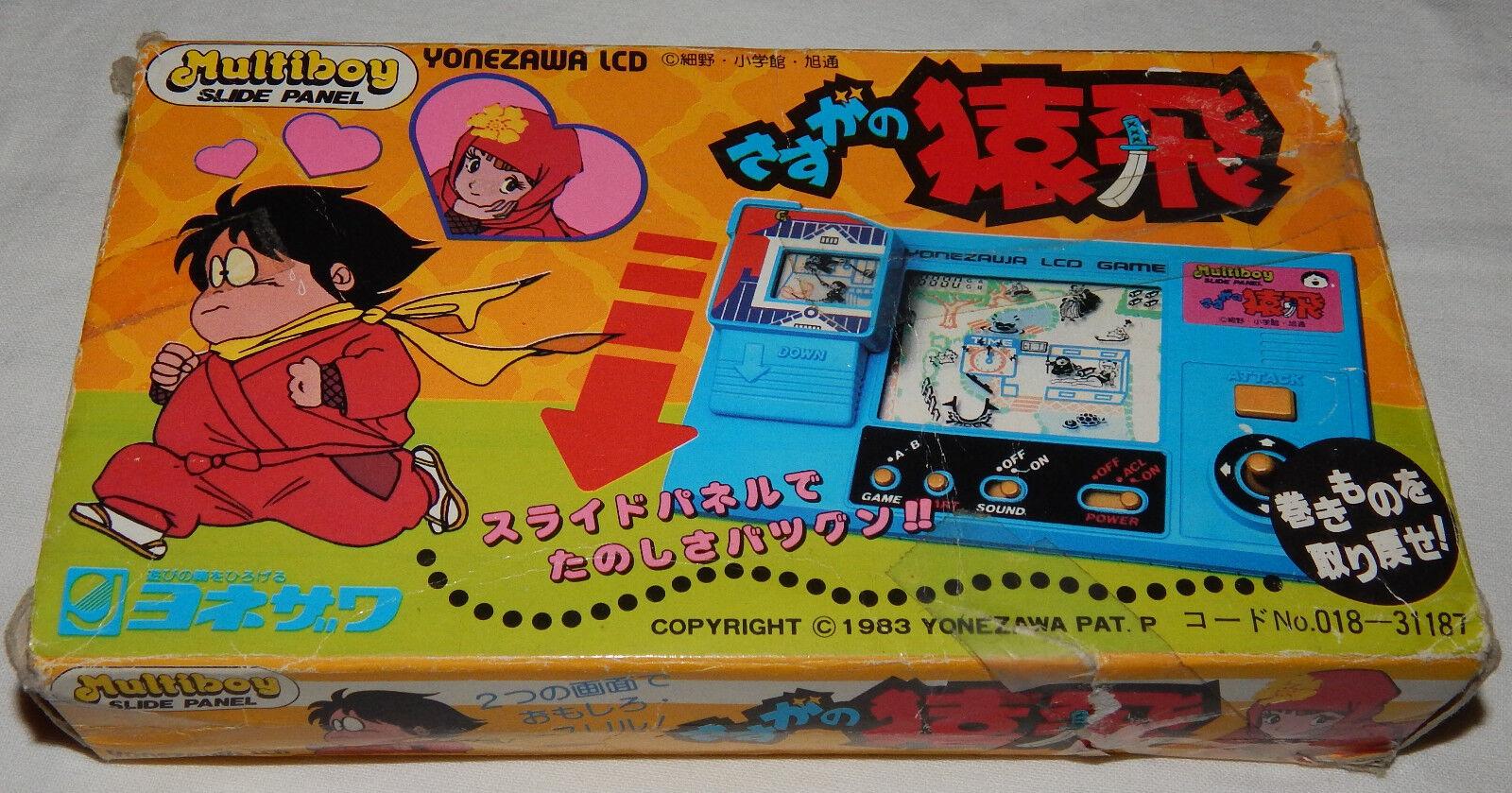 VINTAGE YONEZAWA NINJA MULTIBOY SLIDEPANEL LCD HANDHELD GAME WATCH BOX BOXED G&W