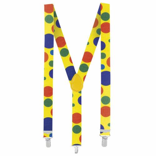elastisch Bunte Hosenträger für Clownkostümegrößenverstellbar