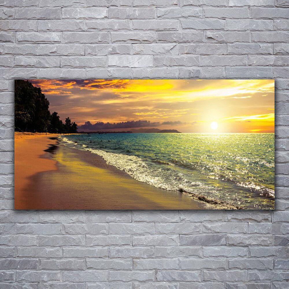 Acrylglasbilder Wandbilder aus Plexiglas® 120x60 Strand Meer Baum Landschaft