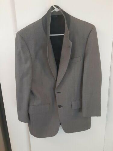 Vintage Burberry Grey and Black Plaid Tweed Wool S
