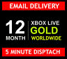 12 MONTH XBOX LIVE GOLD MEMBERSHIP SUBSCRIPTION CODE - WORLDWIDE  5 MIN DISPATCH