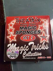 NEW-IN-BOX-Theatrix-Magic-Sponges-DVD-set-of-2