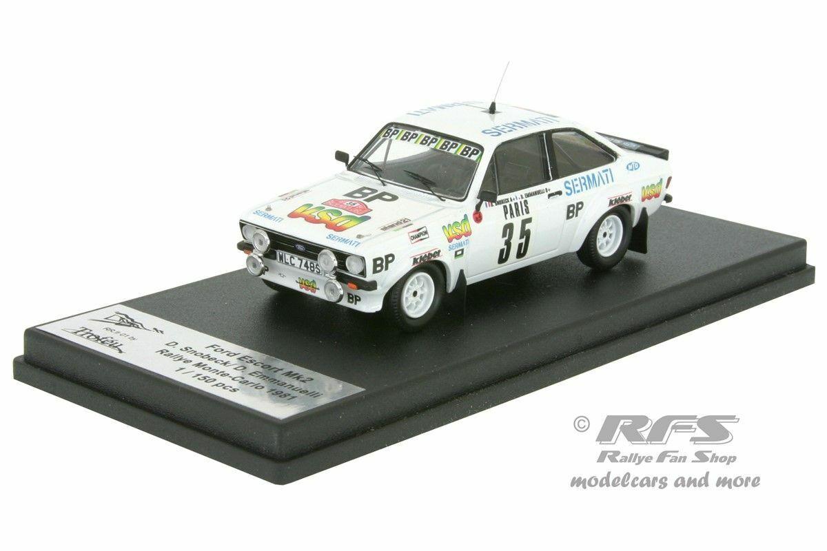 Ford Escort RS 1800 Mk II Rally de Monte Carlo 1981 snobeck 1 43 Trofeu rrfr 01
