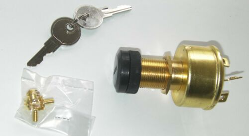 BRASS ACC// OFF //IGN:ACC // SPRUNG START 15AMP BOAT /& OUTBOARD IGNITION SWITCH