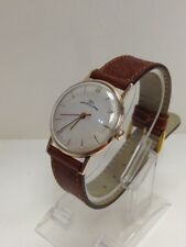 14K ROSE GOLD CASE  VINTAGE LUCH  23 JEWELS RUSSIAN USSR  MEN'S WIND WATCH  RARE